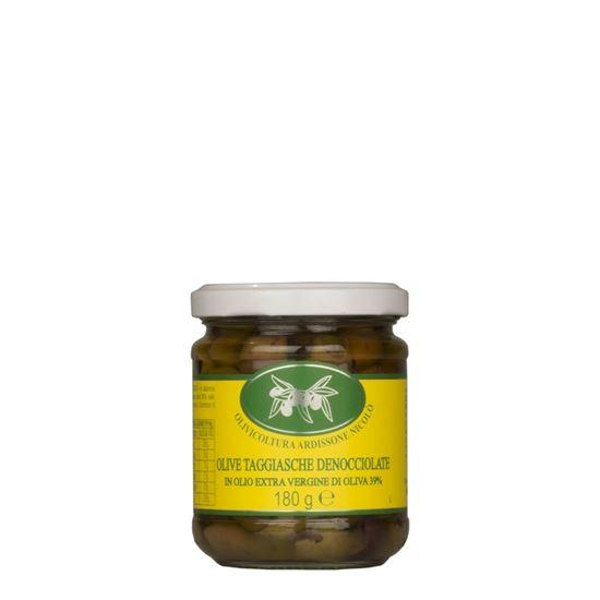 Immagine di Olive Taggiasche denocciolate in Olio Extra Vergine di Oliva